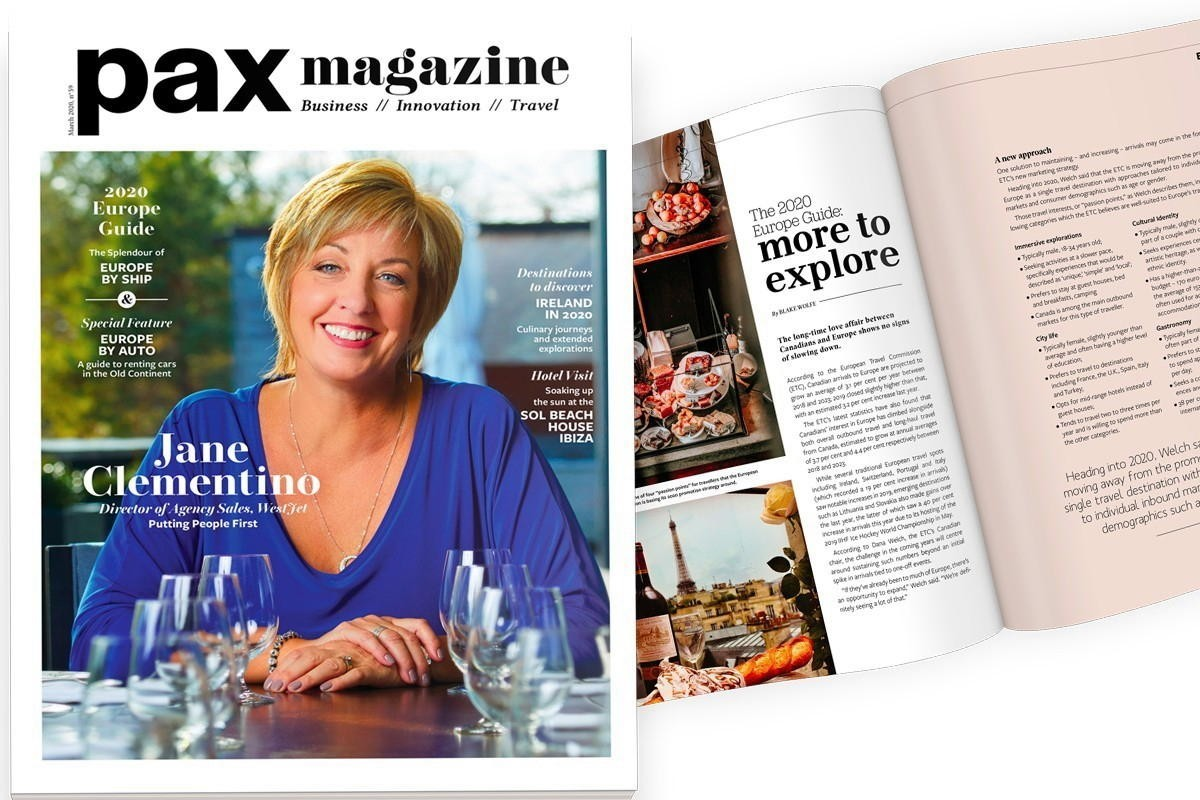 WestJet's Jane Clementino is PAX magazine's March cover star!