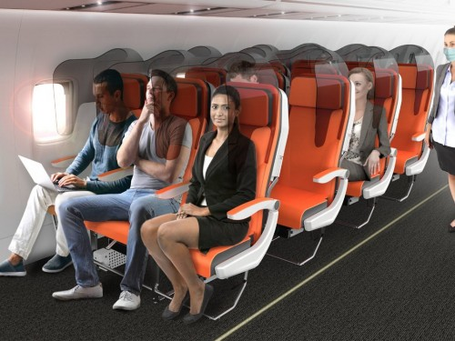 Is this how airplane seats will look after COVID-19?
