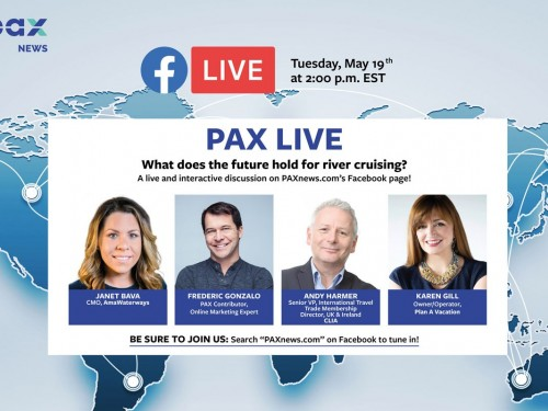 What does the future hold for river cruising? FB Live today, May 19th, 2 p.m. (EST)