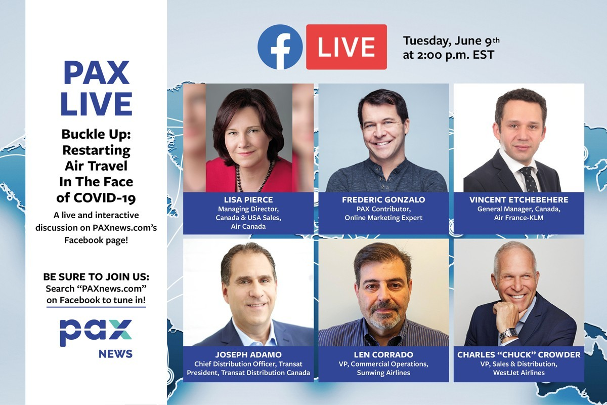 Buckle up: Restarting air travel in the face of COVID-19. FB Live today (June 9th), 2 p.m. (EST)