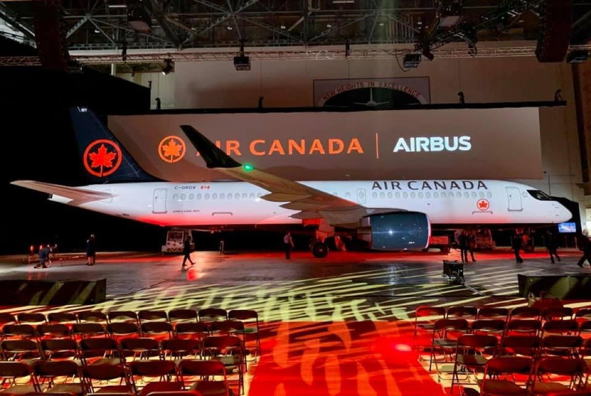 Air Canada refinances 18 Airbus A220 airplanes