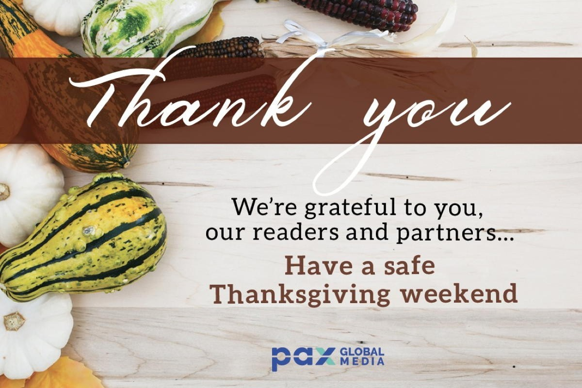 Happy Thanksgiving from Pax Global Media; Travel agents go extra mile for cancelled destination wedding couple