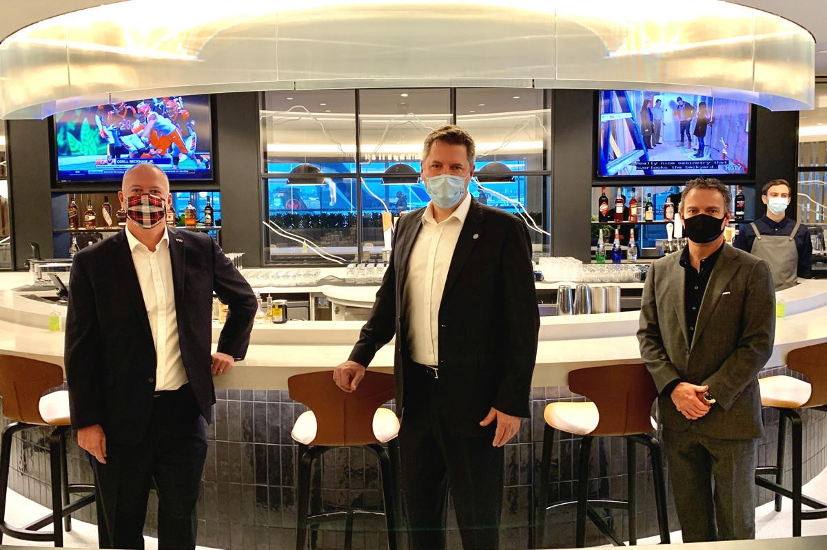 On location: PAX tours WestJet's premium Elevation Lounge; CEBA now open to businesses using personal banking accounts