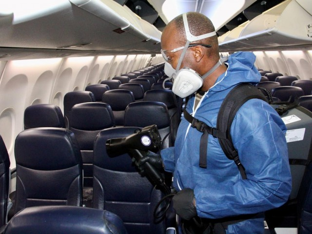 Sunwing will be using this powerful antimicrobial spray to treat its aircraft