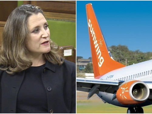 """Sunwing """"disappointed"""" in Liberals' fiscal update, but remains """"open to collaborating"""""""
