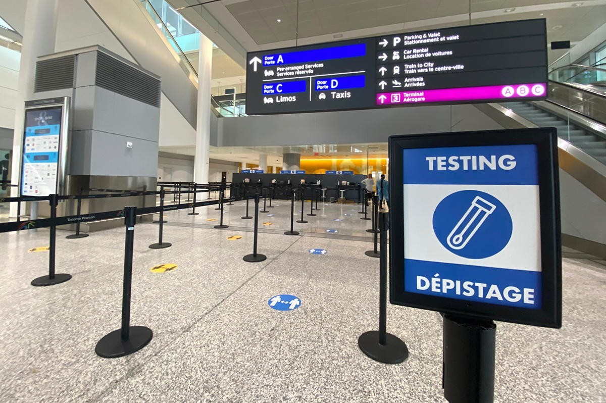 Ontario launches free COVID testing at Pearson, keeps 14-day quarantine