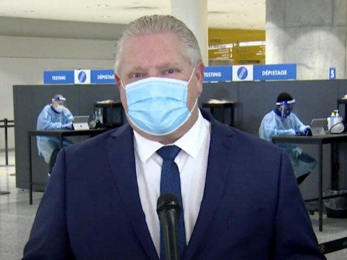 Ford to announce mandatory COVID-19 testing at Ontario airports & border crossings: report