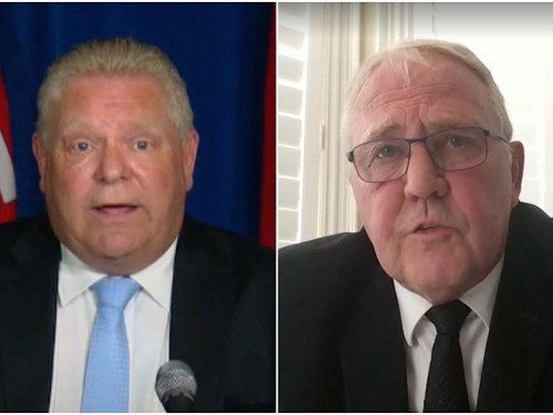 Furious Ford fires again at border measures; Blair tells Premier to review his data