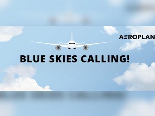 Win free flights in Aeroplan's Blue Skies Calling contest!