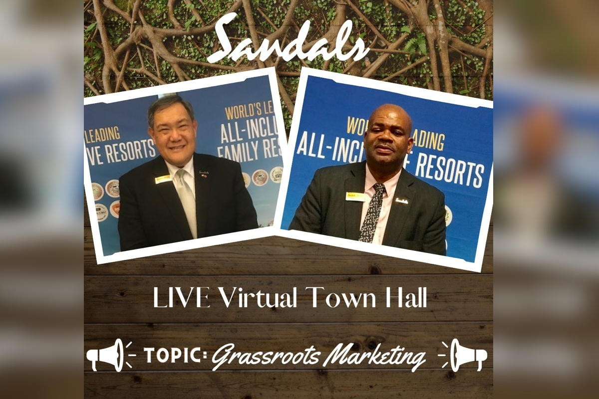 Sandals' June 23rd town hall will cover grassroots marketing. Register here!