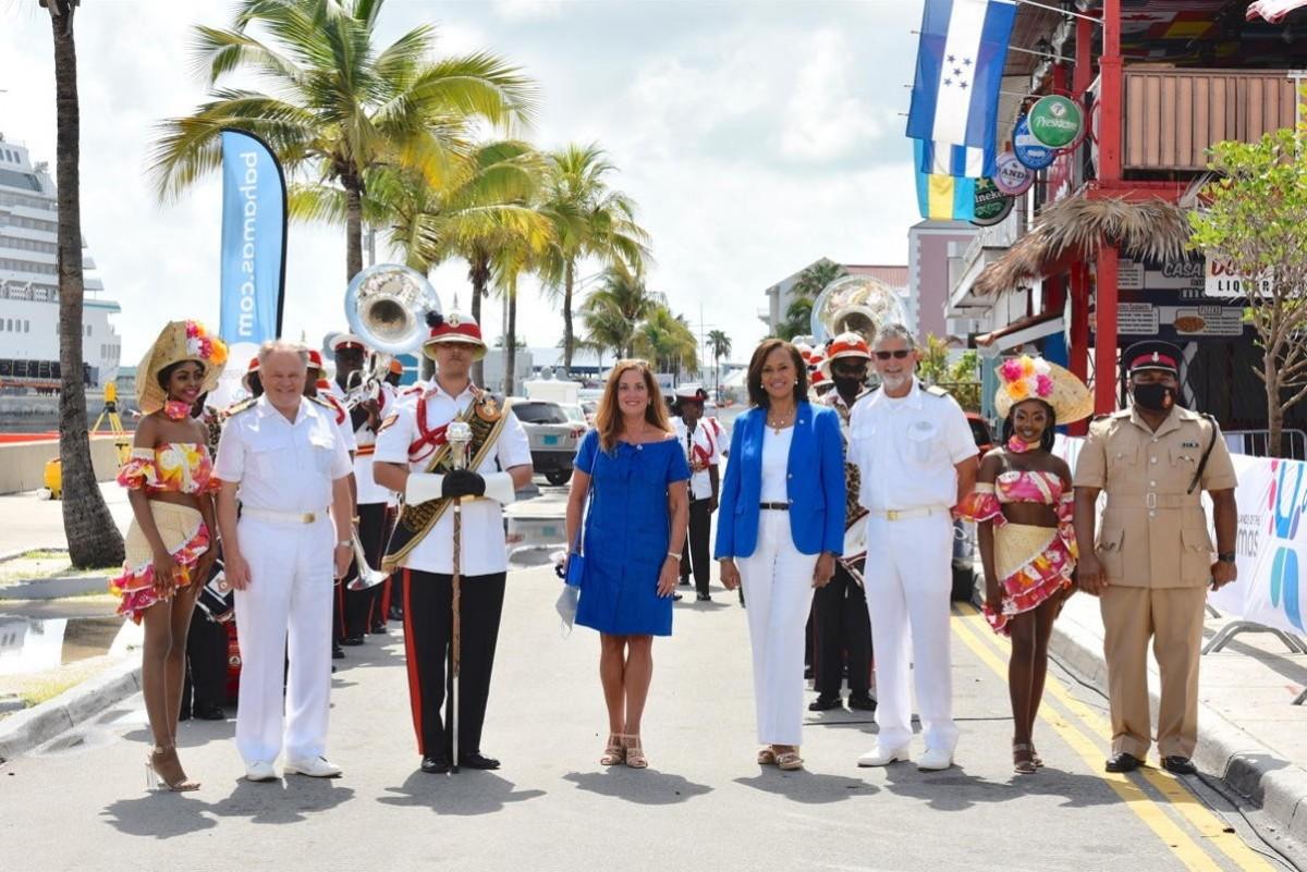 Crystal celebrates resumption of ocean cruising in the Bahamas