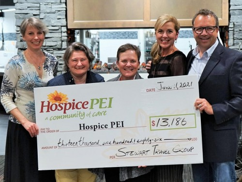 "Stewart Travel Group's ""Tastes of Travel"" event raises $13,186 for Hospice PEI"