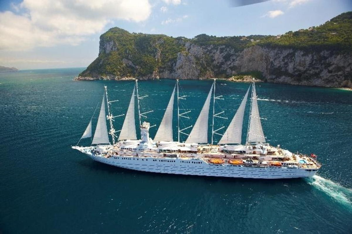 Windstar's flagship Wind Surf resumes operations in the Mediterranean