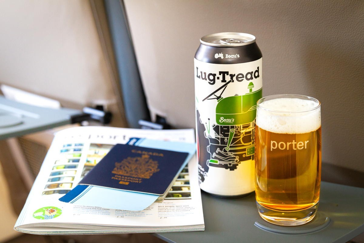 Porter toasts Beau's Brewing Co. as new in-flight beer partner