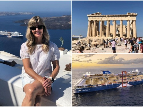 VIDEO: Brenda Lynne Yeomans reports from Celebrity Apex in Greece